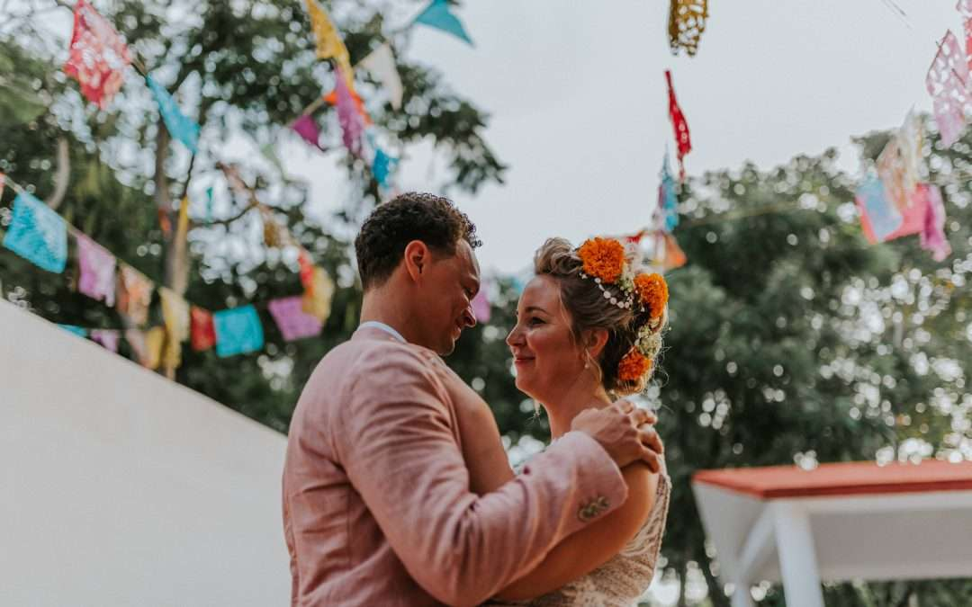 A colorful Tulum pueblo oasis wedding