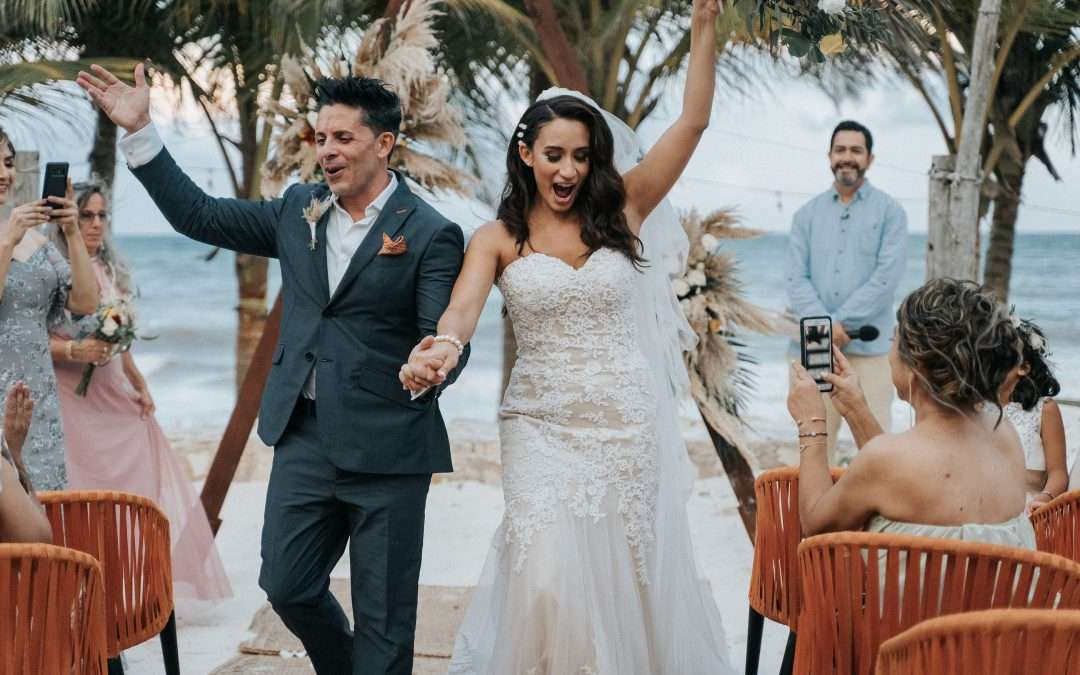 A luxe beachfront wedding in Tulum
